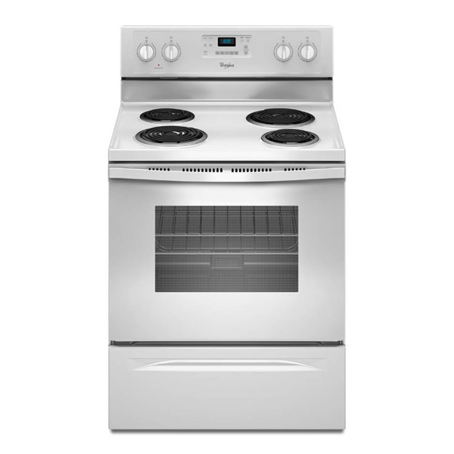 Whirlpool white 4.8 cu. ft. Self Cleaning Electric Range SKU: 7409WAW