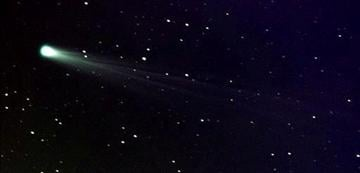 (AP Photo/NASA, Aaron Kingery). In this photo provided by NASA, Comet ISON shows off its tail in this three-minute exposure taken on Nov. 19, 2013 at 6:10 a.m.